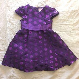 purple american girl dress